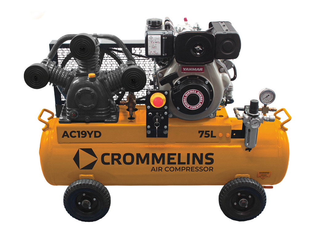 Crommelins Portable Piston Air Compressors Front Diesel,
