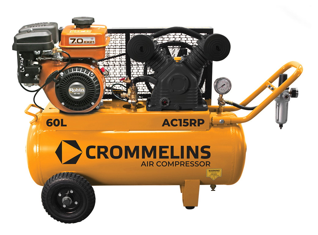 Crommelins Portable Piston Air Compressors Petrol