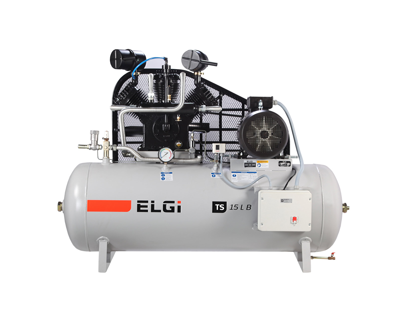 ELGi Industrial Reciprocating Oil-Flooded Piston Air Compressors, Front