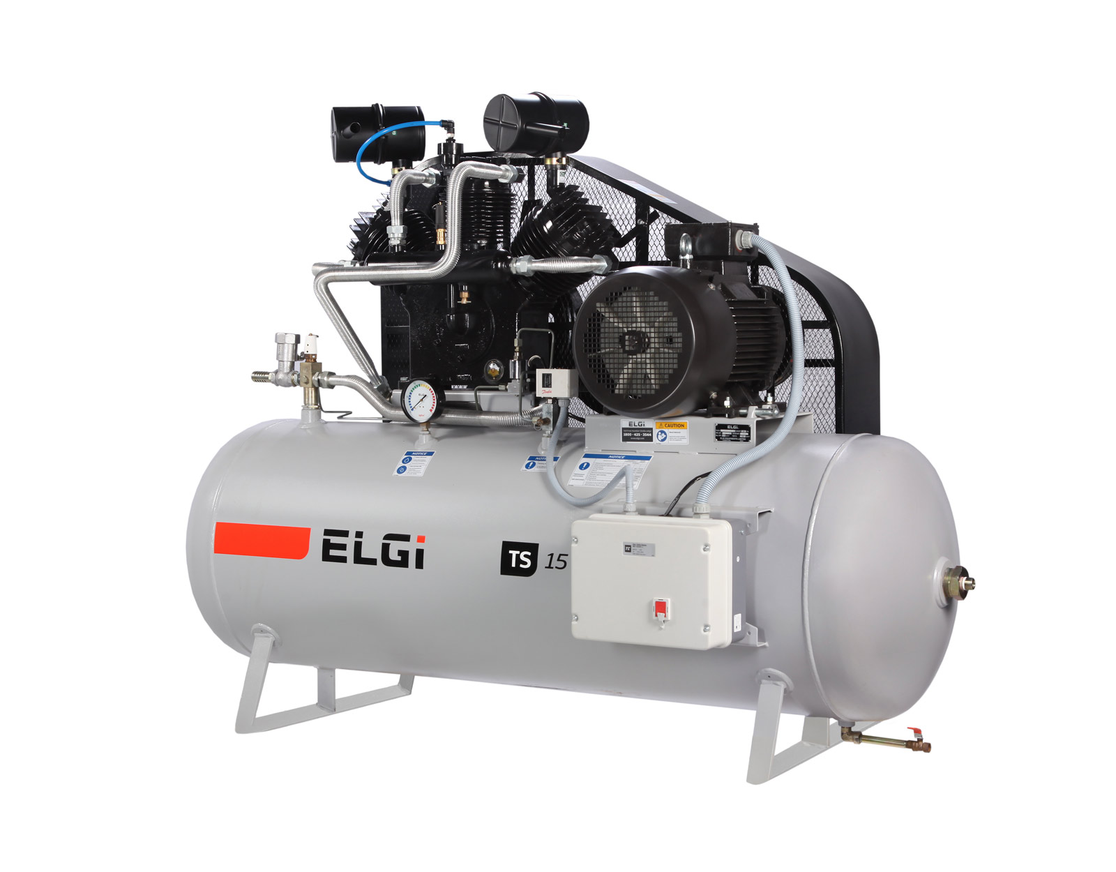 ELGi Industrial Reciprocating Oil-Flooded Piston Air Compressors Side