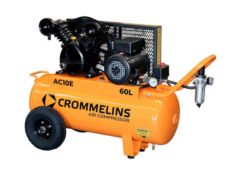 Crommelins Portable Piston Air Compressors Side